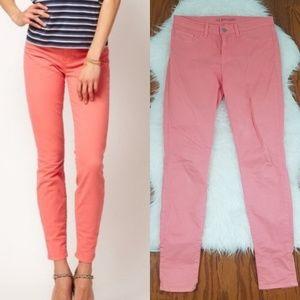 J Brand Coral Skinny Leg Jeans